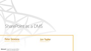SharePoint as a DMS