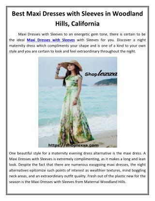 Best Maxi Dresses with Sleeves in Woodland Hills, California