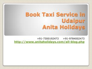 Book Taxi service in Udaipur