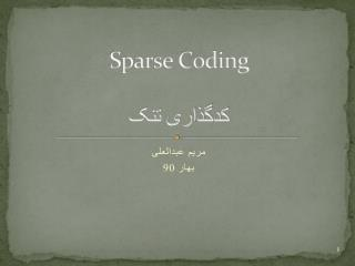 Sparse Coding