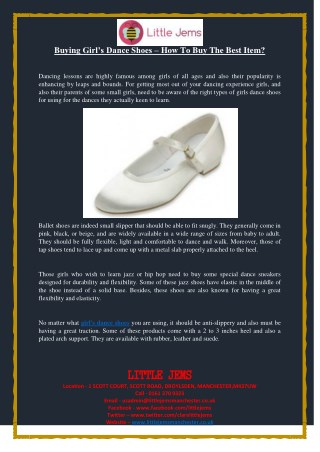 Buying Girl's Dance Shoes – How To Buy The Best Item?
