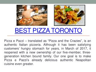 Best Pasta Toronto