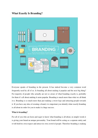 What Exactly Is Branding? Everyone