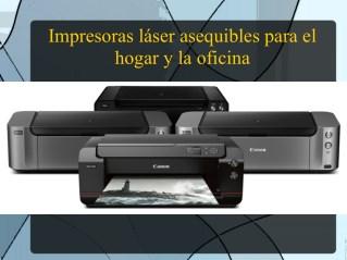 Impresoras láser asequibles para el hogar y la oficina