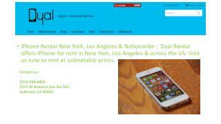 iPhone Rental New York, Los Angeles & Nationwide