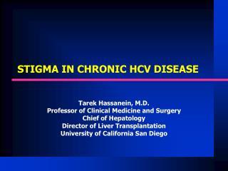 STIGMA IN CHRONIC HCV DISEASE