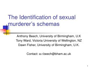 The Identification of sexual murderer s schemas