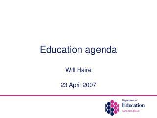 Education agenda