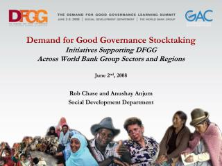 Demand for Good Governance Stocktaking Initiatives Supporting DFGG  Across World Bank Group Sectors and Regions   June 2