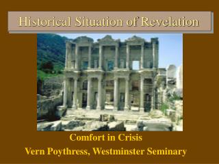 The Situation of Revelation: Outline