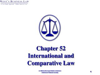Chapter 52 International and  Comparative Law