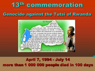 13th commemoration