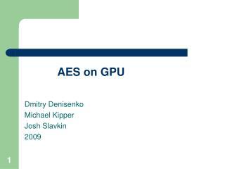 AES on GPU