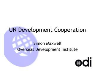 UN Development Cooperation