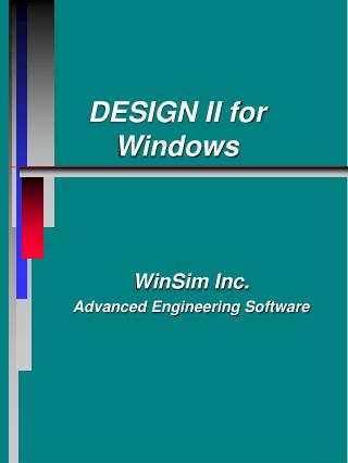 DESIGN II for Windows