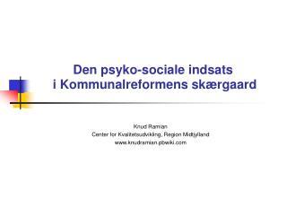 Den psyko-sociale indsats   i Kommunalreformens sk rgaard