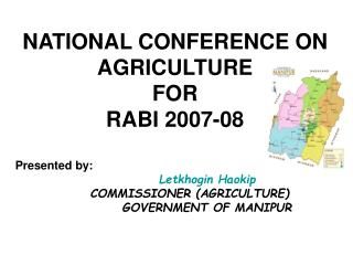 NATIONAL CONFERENCE ON AGRICULTURE  FOR RABI 2007-08