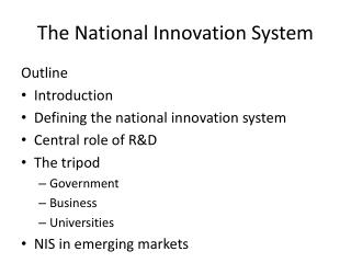 The National Innovation System
