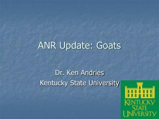 ANR Update: Goats