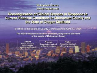 Board Briefing Health Department Reconfiguration of Clinical Services ...