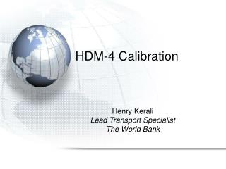 HDM-4 Calibration