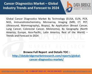 Cancer Diagnostics Market Analysis 2017 – Global Trends and Forecast to 2024