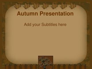 Autumn Presentation
