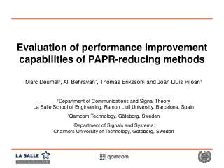 Evaluation of performance improvement capabilities of PAPR-reducing methods