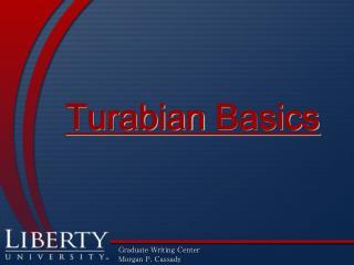 Turabian Basics