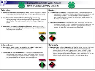 Essential Elements Walk Around