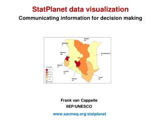StatPlanet data visualization Communicating information for decision making