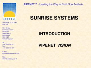 SUNRISE SYSTEMS