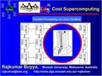 Low  Cost Supercomputing