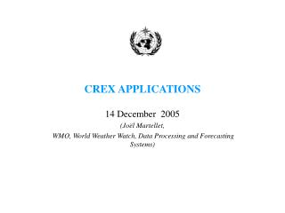 CREX APPLICATIONS