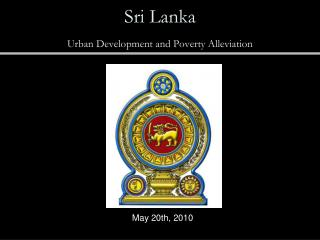 Sri Lanka  Urban Development and Poverty Alleviation