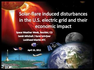 Solar-flare induced disturbances in the U.S. electric grid and their economic impact