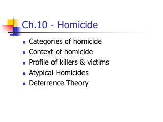 Ch.10 - Homicide