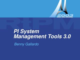 PI System Management Tools 3.0