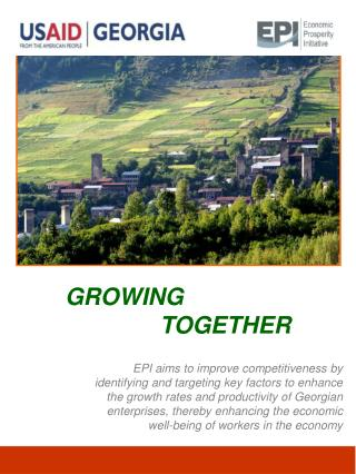 EPI aims to improve competitiveness by identifying and targeting key factors to enhance the growth rates and productivit