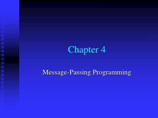 Message-Passing Programming