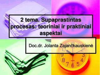 2 tema. Supaprastintas procesas: teoriniai ir praktiniai aspektai