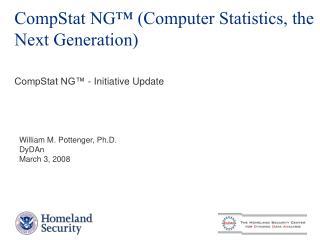 CompStat NG  Computer Statistics, the Next Generation