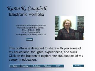Karen K. Campbell Electronic Portfolio
