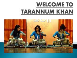 Tarannum Khan-Teaching Class in Tabla Academy