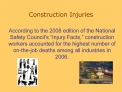 Construction Injuries