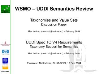 WSMO   UDDI Semantics Review
