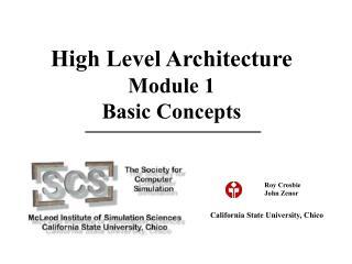 High Level Architecture Module 1 Basic Concepts