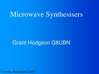 Microwave Synthesisers