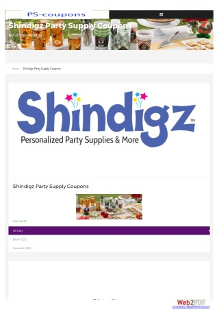 Low-Priced Party Supplies | Shindigz free shipping