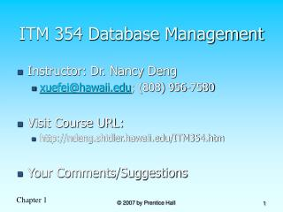 ITM 354 Database Management
